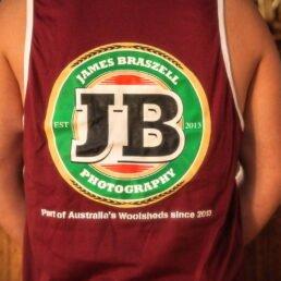 Shearer Singlet JB Label (Back) - James Braszell Photography