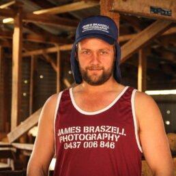 Shearer Singlet JB Label (Front) - James Braszell Photography