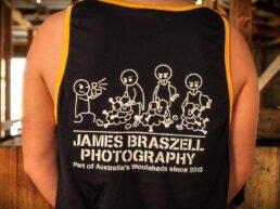 Shearer Singlet Stick Figures (Back) - James Braszell Photography
